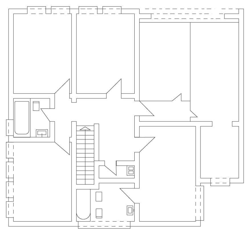 Grundriss 1. Obergeschoss Wohngemeinschaft Eichenstraße in Berlin